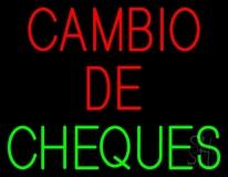 Cambio De Cheques Neon Sign
