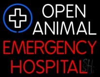 Open Animal Emergency Hospital LED Neon Sign