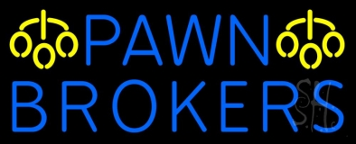 Pawn Brokers Logo Neon Sign