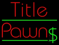 Red Title Pawn Neon Sign