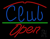 Club Script Open Neon Sign
