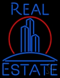 Real Estate Building Logo Neon Sign