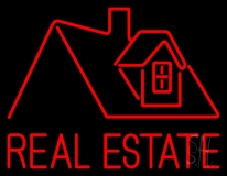 Real Estate Home Logo LED Neon Sign