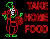 Take Home Food LED Neon Sign