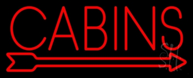 Cabins LED Neon Sign