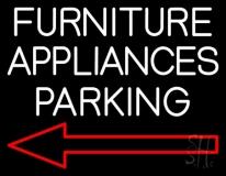 Furniture Appliances Parking LED Neon Sign