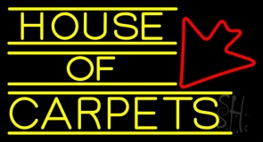 House Of Carpets LED Neon Sign