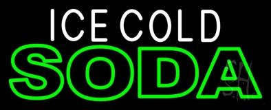Ice Cold Double Stroke Soda Neon Sign
