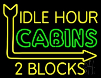 Idle Hour Cabins LED Neon Sign