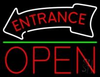 Entrance Open Neon Sign