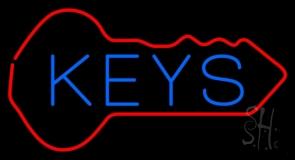 Keys Inside Key Logo Neon Sign