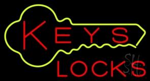 Keys Locks Neon Sign
