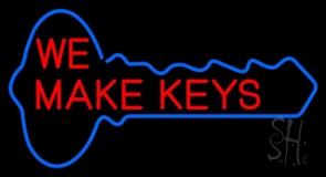 Red We Make Key Neon Sign