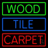 Wood Tile Carpet LED Neon Sign