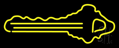 Yellow Key Logo Neon Sign