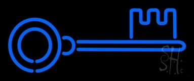 Blue Key 1 Neon Sign