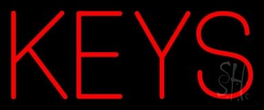 Red Double Stroke Keys Neon Sign