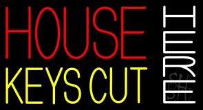 House Keys Cut Here 1 LED Neon Sign