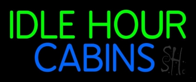 Idle Hour Cabins 2 LED Neon Sign