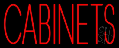 Red Cabinets 3 LED Neon Sign