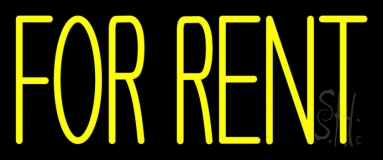 Yellow For Rent 1 Neon Sign