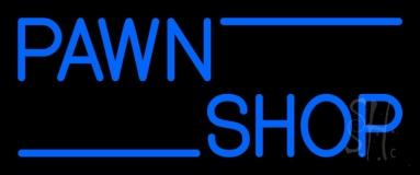 Blue Double Stroke Pawn Shop 1 Neon Sign