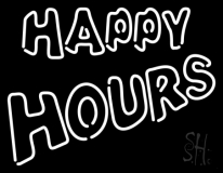Happy Hours Neon Sign