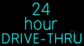 24 Hours Double Stroke Drive Thru LED Neon Sign