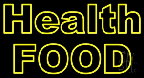 Yellow Health Food Neon Sign