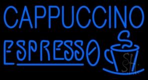Blue Cappuccino Espresso LED Neon Sign