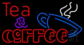Double Stroke Tea And Coffee Neon Sign