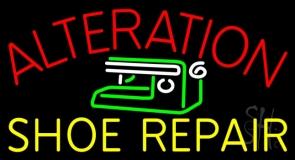Alteration Shoe Repair Neon Sign