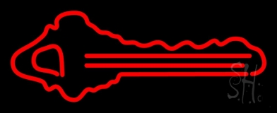 Red Key Logo 1 LED Neon Sign