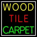 Wood Tile Carpet 1 LED Neon Sign