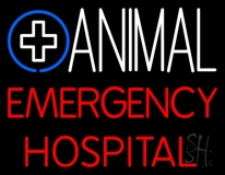 Animal Emergency Hospital Neon Sign