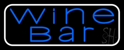 Blue Wine Bar Neon Sign