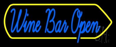 Cursive Wine Bar Open Neon Sign