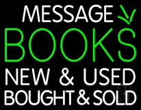 Custom Books New And Used Bought And Sold Neon Sign