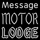 Custom Personalized Motor Lodge Neon Sign