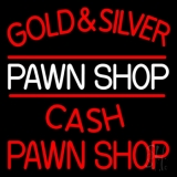 Gold And Silver Pawn Shop Neon Sign