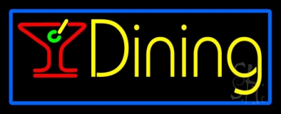 Dining With Martini Glass 1 Neon Sign