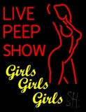 Live Peep Show Neon Flex Sign