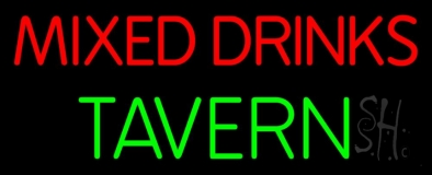 Mixed Drinks Tavern 1 Neon Sign