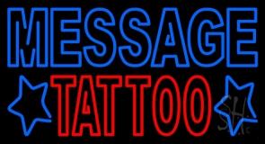 Custom Double Stroke Tattoo Neon Sign