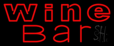 Double Stroke Red Wine Neon Sign