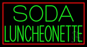 Green Soda Luncheonette Neon Sign