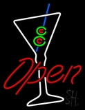 Martini Glass Bar Open Neon Sign