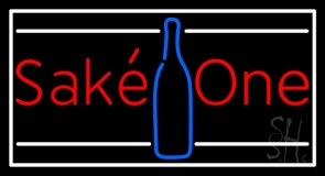 Sake One With Bottle 1 Neon Sign