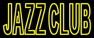 Double Stroke Red Jazz Club With Yellow Border Neon Sign