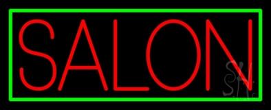 Salon With Yellow Border Neon Sign